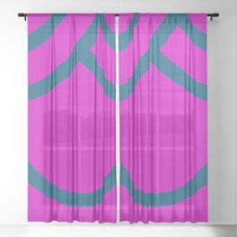 Japanese  Aesthetic Pattern Sheer Curtain