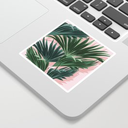 Pink and green palm trees Sticker