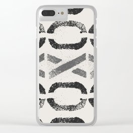 Shapes Of Love - Black White Grey Pattern Clear iPhone Case