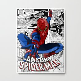 Spider-Man Comic Metal Print