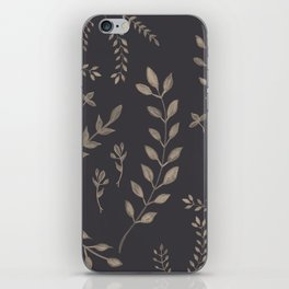 Light Sepia Leaves Pattern #1 #drawing #decor #art #society6 iPhone Skin