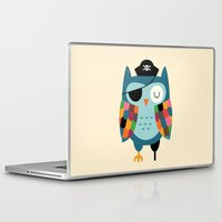 captain Laptop & iPad Skins featuring Captain Whooo by Andy Westface