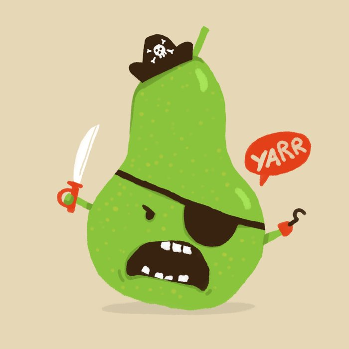 Pear-ate a.k.a The Angry Pirate Comforters