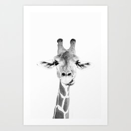 Hey Giraffe Kunstdrucke