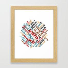 Christian Psalm 23 Colorful Word Art Framed Art Print