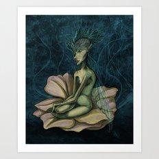 Pensive Maida Art Print