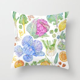 Winter Harvest Throw Pillow