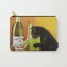 Black cat drinking Absinthe Carry-All Pouch