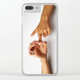 Sign language Clear iPhone Case