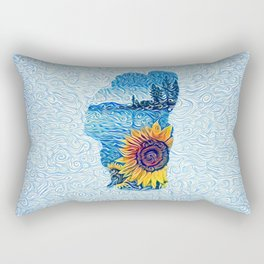 Lake Tahoe Sunflower Rectangular Pillow