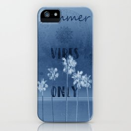 summer vibes only vintage blue iPhone Case