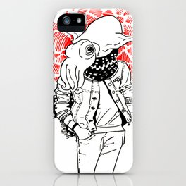 hip cuttlefish iPhone Case
