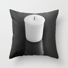 Candle Reflection Throw Pillow