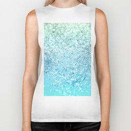 Seafoam Aqua Ocean MERMAID Girls Glitter #1 #shiny #decor #art #society6 Biker Tank