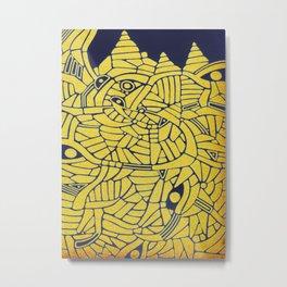 - mountainous - Metal Print