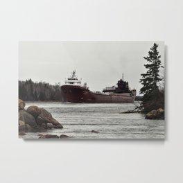 Lee Tregurtha on Saint Marys River Metal Print