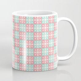 Pixel Snowflakes Coffee Mug