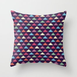 Coloured Triangles Throw Pillow
