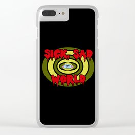 Sick Sad World Clear iPhone Case