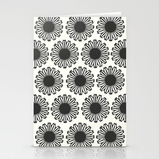 vintage flowers black Stationery Cards