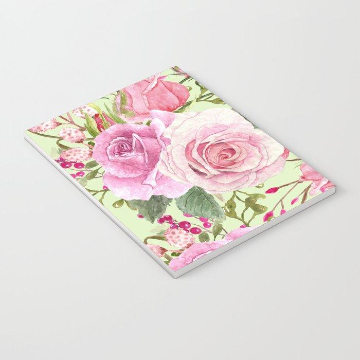 Watercolor Roses #5 Notebook