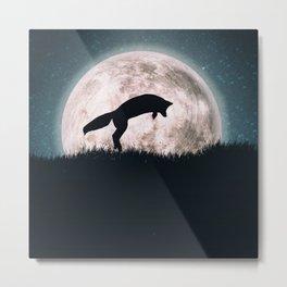 The fox's moon Metal Print
