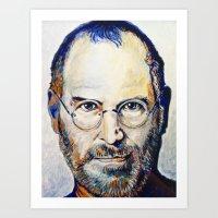 steve jobs Art Prints featuring Steve Jobs by Original Art by Renteria