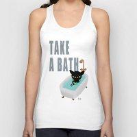 bath Tank Tops featuring Bath Time by BATKEI