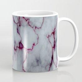 White with Maroon Marbling Coffee Mug