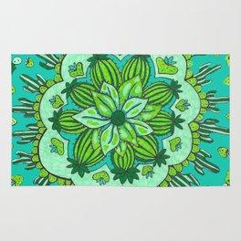 Cactus Mandala Rug