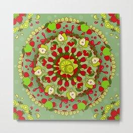Red Fruit, Green Fruit Metal Print
