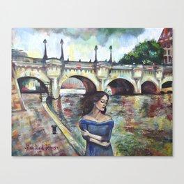 Under Paris skies. Canvas Print