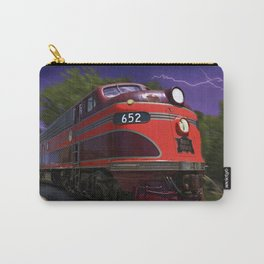 Rock Island Rocket Streamliner Passenger Train in Night Thunderstorm Carry-All Pouch