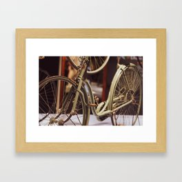 Vintage Bicycle. Framed Art Print