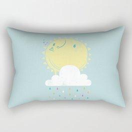Make it Rain Rectangular Pillow