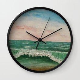 Abstract Caribbean Ocean Wave Wall Clock
