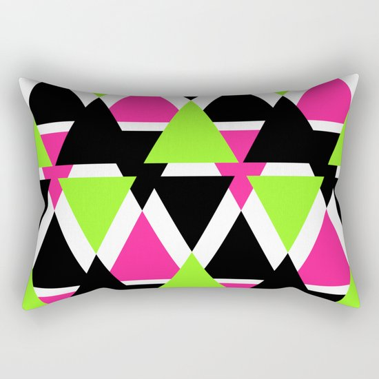Colorful triangles . No. 2 Rectangular Pillow