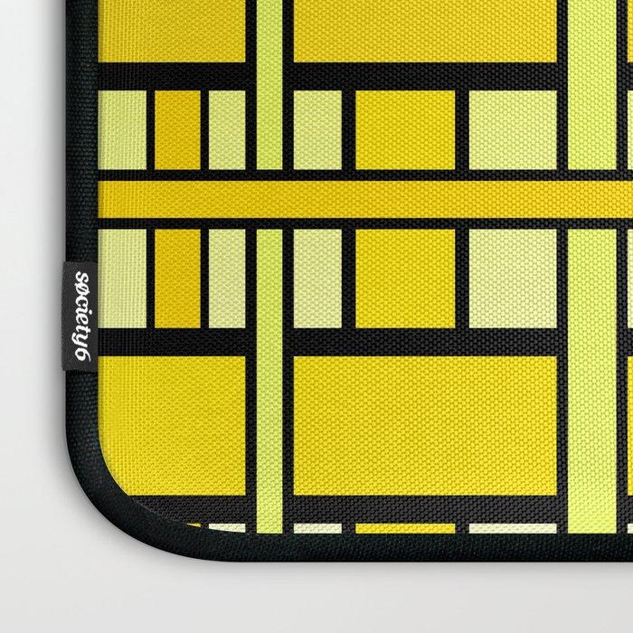 Yellow grid Laptop Sleeve