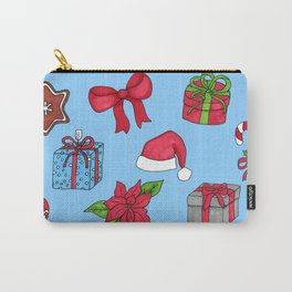 Christmas pattern (#1 blue) Carry-All Pouch