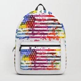 Splash US Flag Backpack