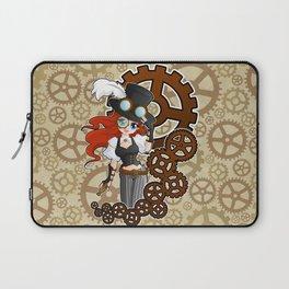 Steampunk Girl Laptop Sleeve
