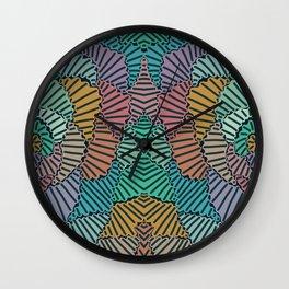 Combined Graffiti Wall Clock