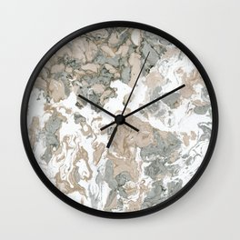 Real Marbled Paper Pattern II. Wall Clock