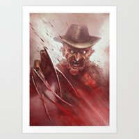 freddy krueger Art Prints featuring FREDDY KRUEGER by Austen Mengler