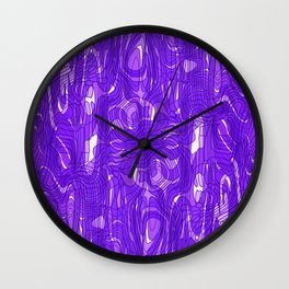 Subtle interweaving of sparkling smudges from violet lava and light chaotic cycle. Wall Clock