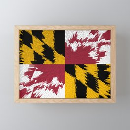 Extruded flag of Maryland Framed Mini Art Print