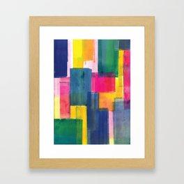 Color Block Series: Rooftops Framed Art Print