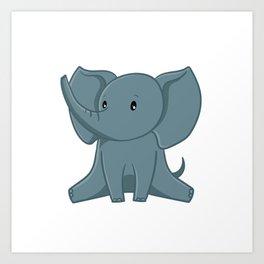 Elephant - Zoo Animals Art Print