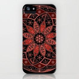 Autumn Fall Mandala Spirograph Art Pattern Design Rosette iPhone Case