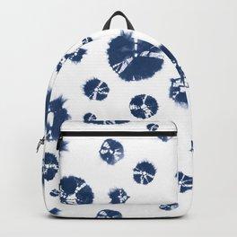 Shibori Polka Splotch Indigo Blue Backpack